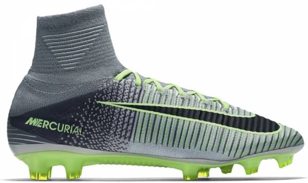 Nike Mercurial Superfly V Firm Ground - Grey (831940003)
