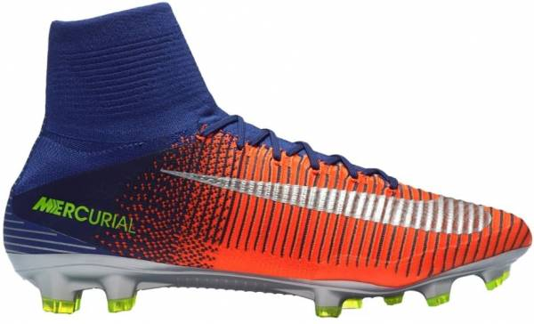Nike Mercurial Superfly V Firm Ground Deep Royal Blue/Chrome