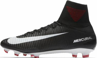 Nike Mercurial Superfly V Firm Ground - Black/White/Dark Grey (831940002)