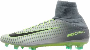 Nike Mercurial Veloce III Dynamic Fit Firm Ground - Pr Pltnm/Blk Ghst Grn/Clr Jd) (831961003)