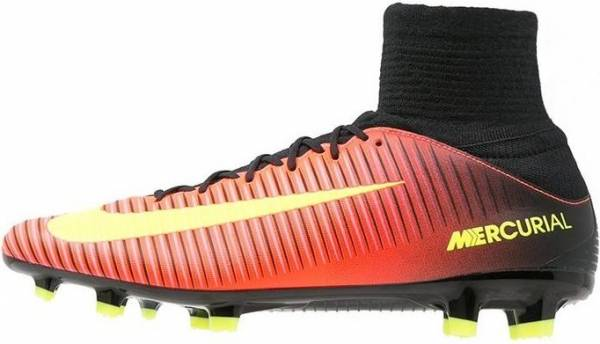 Nike Mercurial Veloce III Dynamic Fit Firm Ground - Arancione (Naranja (Total Crimson / Vlt-blk-pnk Blst))