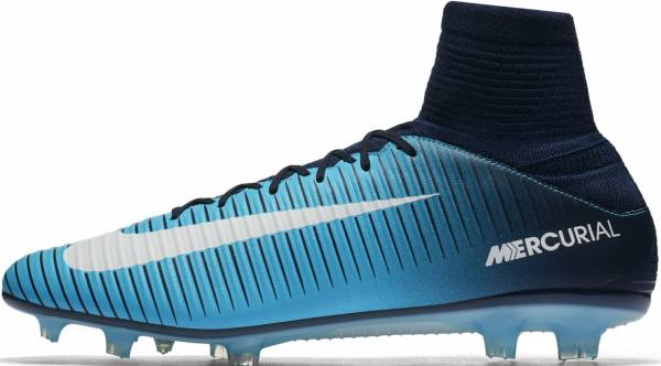 Nike Mercurial Veloce III Dynamic Fit Firm Ground Blau (Blau / Weiß Blau / Weiß)