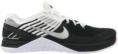 Nike Metcon DSX Flyknit - Black/White-Metallic Silver