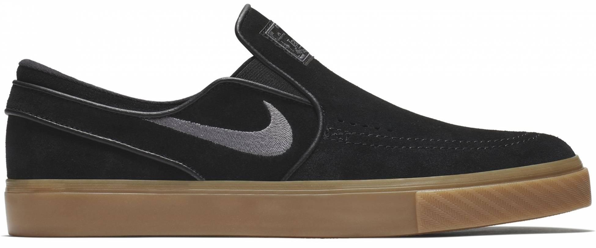 El sendero Grafico Charlotte Bronte  Nike SB Zoom Stefan Janoski Slip-On sneakers in black | RunRepeat