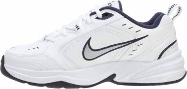 011a757b6939c Nike Air Monarch IV White/Metallic Silver/Midnight Navy Men