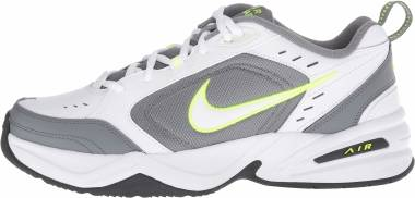 Nike Air Monarch IV - Blanco (White/White/Cool Grey/Volt/Anthracite 100)