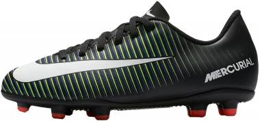 Nike Mercurial Vortex III Firm Ground - Black/White/Electric Green