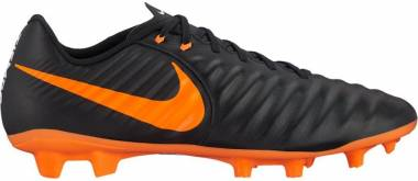 Nike Tiempo Legend VII Academy Firm Ground - Black Black Black White Total Orange 080 (AH7242080)