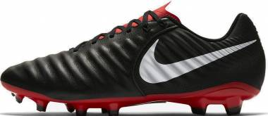 Nike Tiempo Legend VII Academy Firm Ground Black (Black/Pure Platinum/Lt Crimson 006) Men