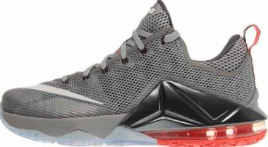 Nike LeBron XII Low - Grey/Lava/White (724557014)