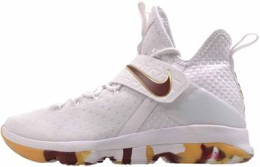 Nike LeBron XIV - White/Team Red Gum Light Brown (624735815)