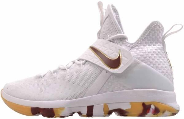 Nike LeBron XIV - White/Team Red Gum Light Brown