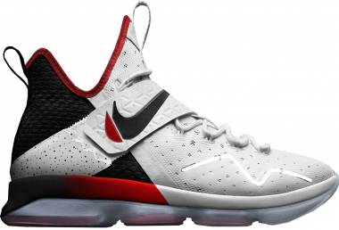 Nike LeBron XIV white, black - university red Men