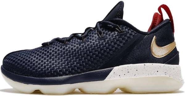 wholesale dealer 7dffb 88c09 Nike LeBron XIV Low Midnight   Metallic Gold