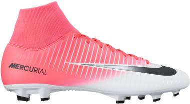 Nike Mercurial Victory VI Dynamic Fit Firm Ground Pink (Racer Pink/Black-white-white) Men