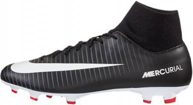 Nike Mercurial Victory VI Dynamic Fit Firm Ground - Black Black Dark Grey University Red White (903609002)