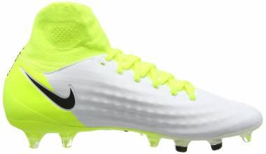 Nike Magista Obra II DF Pro Firm Ground - White White Black Volt Pure Platinum (843812109)