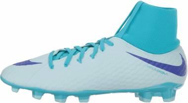 Nike Hypervenom Phantom III DF Academy Firm Ground - Glacier Blue/Persian Violet (AH7268454)