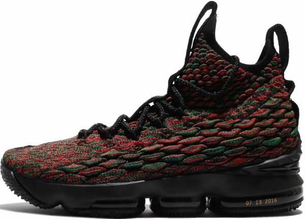 New Men Nike Lebron 15 Pink Black Gold Shoes