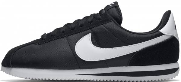 the latest 479b4 22083 Nike Cortez Basic Nylon Black White-metallic Silver
