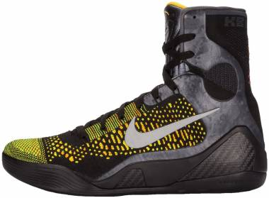 quality design fd513 6dff7 Nike Kobe 9 Elite black, metallic silver-anthrct Men