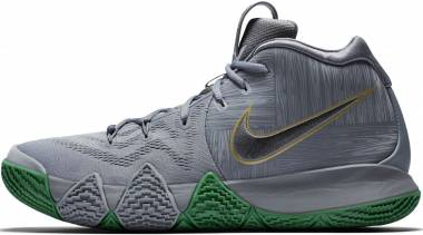 outlet store 08afe 05dab Nike Kyrie 4 Black Metallic Silver Men