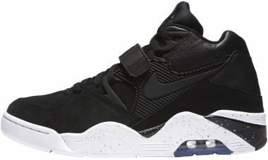 san francisco d07fe 04df3 Nike Air Force 180 Black Black-white Men
