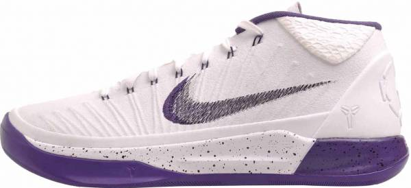 size 40 e912a 5b479 Nike Kobe AD Mid White  Court Purple-black