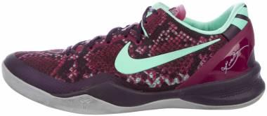 Nike Kobe 8 System Purple Dynasty, Green Glow-rasberry Red Men