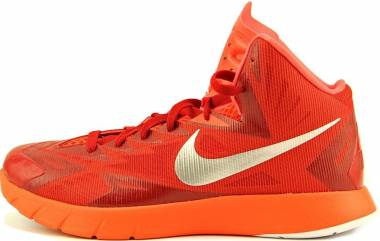 Nike Lunar Hyperquickness - gym red/bright crimson/metallic silver (652775606)