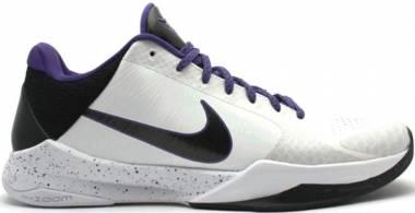 Nike Zoom Kobe 5 - White Black Vrsty Purple Dl Sl