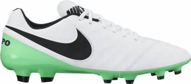Nike Tiempo Genio II Leather Firm Ground - White (White/Black-electro Green 103)