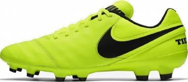 Nike Tiempo Genio II Leather Firm Ground - Green Volt Black Volt (819213707)