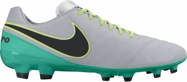 Nike Tiempo Genio II Leather Firm Ground - Multicolore Wolf Grey Black Clr Jade Metallic Silver (819213003)