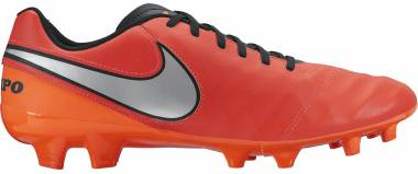 Nike Tiempo Genio II Leather Firm Ground - Red (819213608)