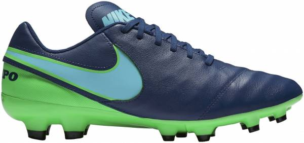 dcc22b9e07f Nike Tiempo Genio II Leather Firm Ground Blue (Coastal Blue Rage  Green Polarized