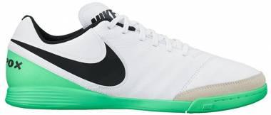 Nike Tiempo Genio II Leather Indoor - White/Black/Green