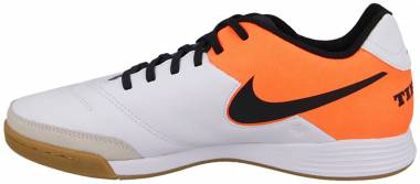 Nike Tiempo Genio II Leather Indoor - White/Black-total Orange Shoe (819215108)