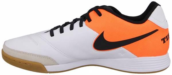 Nike Tiempo Genio II Leather Indoor - Blanco White Black Total Orange