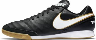Nike Tiempo Genio II Leather Indoor - Black Black White (819215010)