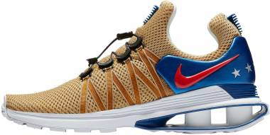 online retailer 13d36 366a9 Nike Shox Gravity Metallic Gold Speed Red-white-gym Blue Men