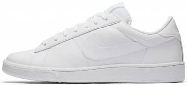 Nike Flyleather Tennis Classic - White/White/White