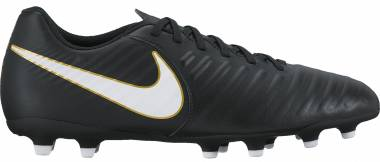 Nike Tiempo Rio IV Firm Ground - Black (Black/White Black 002) (897759002)
