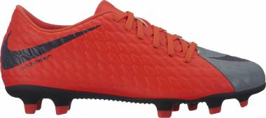 Nike Hypervenom Phade 3 Firm Ground - Cool Grey/Purple Dynasty/Max Orange