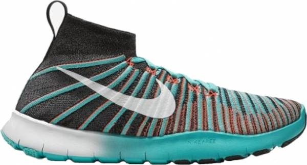 Nike Free Train Force Flyknit - Black / White - Bright Mango - Hyper Jade (833275018)