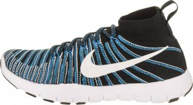 Nike Free Train Force Flyknit - Black White Blue Glow
