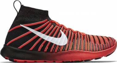 Nike Free Train Force Flyknit - Black Black Drk Grey Wht Brght Crmsn (833275001)