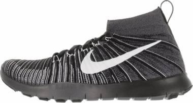 Nike Free Train Force Flyknit - Grey Dark Grey White Black Volt