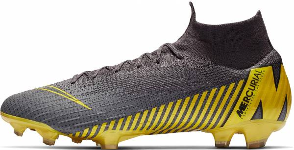 Nike Mercurial Superfly VI Elite Firm Ground - DkGrey/Yellow (AH7365070)