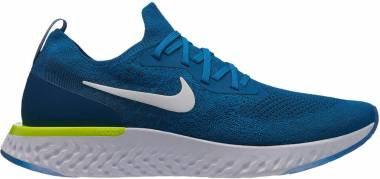 Nike Epic React Flyknit Green Abyss/White-blue Force-volt Men